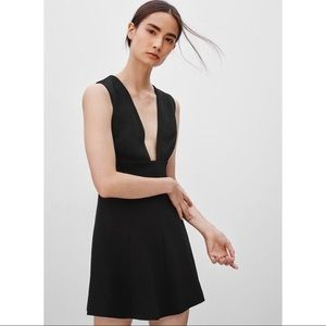 Aritzia Wilfred Faux Suede Montbrun Dress Black